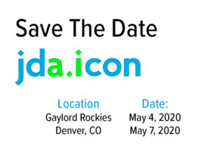 JDa ICON 2020 Save the Date